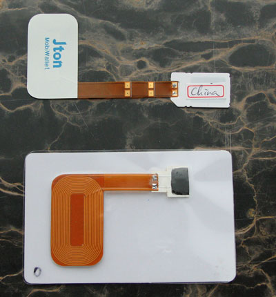 Jton SIM Card Compared to existing RFID Card