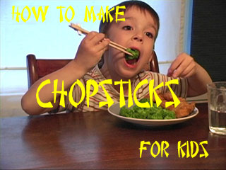 how to make chopsticks for kids