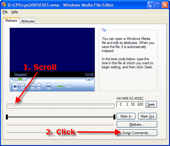 Windows Media File Editor
