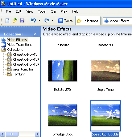 how to speed up video in movie maker