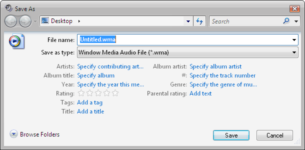 How To Change A Cassette Into A CD Wv_soundrecorder_tags